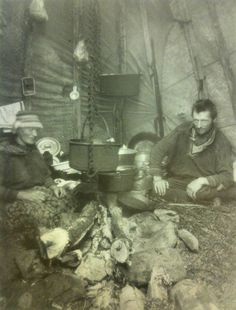 Northern Scandinavia, Sami~ Laavu living.