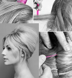 Hair how to: A Bardot up-do