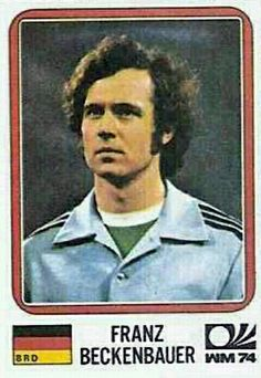 Franz Beckenbauer - West Germany - München 74 World Cup sticker 89 Football Design, Retro Football, Football Match, Football Soccer, Football Stickers, Football Cards, Panini Sticker, Uefa European Championship, Germany Football