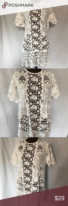 Zara White Lace Pencil Dress or Swimsuit Cover This white dress if made from, chunky lace and it's definitely see-through - great swimsuit cover-up. EUC, free of major flaws or defects.   |✅20% Off Bundles| |✅Questions Welcomed| |✅Reasonable Offers| |⛔️Trades| |⛔️Offline Transactions| |Thrift is Sexy 💋👠 Zara Dresses