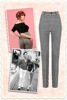 Maddie high waist gingham trousers in black & white - dress like Brigitte Bardot in the 50s at missretrochic.com ! Retro, vintage & glamour boutique