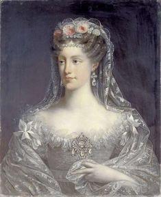 A portrait of Marie-Caroline, duchesse de Berry, 1826, by Robert Lefevre.