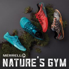 Last time I was at the gym, I spent 10 minutes trying to work out on what I later learned was a towel rack. Since then I've used nature as my gym. Get outside with these trail-ready shoes by Merrell