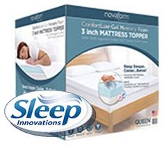 You will improve your sleep like you never thought possible by sleeping on a Novaform Comfortluxe Gel Memory Foam Mattress Topper.   Read my full review here.