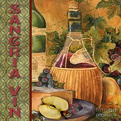 Painting - French Wine-jp3099 by Jean Plout