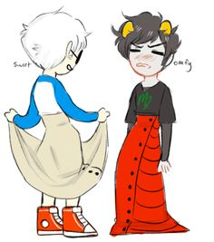 Davekat NSFW | Anonymous asked you: Davekat in dresses