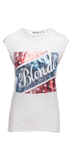 Pam & Gela American Blonde Muscle Tee in White / Manage Products / Catalog / Magento Admin