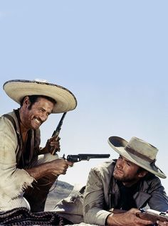 Eli Wallach & Clint Eastwood in 'The Good, The Bad and The Ugly' (1966)