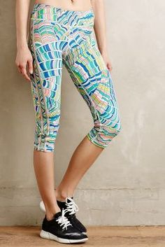 Trina Turk Stained Glass Performance Capris #anthrofave