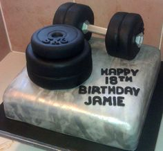 Weightlifting cake