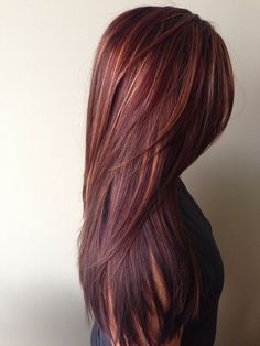 Hair I want Hair Color Ideas: Winter 2015 Red Hair Color Trends, For Blondes, fo. Hair I want Hair Rich Hair Color, Hot Hair Colors, Fall Hair Colors, Hair Color For Women, Hair Color Highlights, Brown Hair Colors, Caramel Highlights, Hair Colour, Peekaboo Highlights