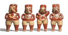 Four Small Chupícuaro Standing Female Figures<br>Late Preclassic, ca. 300-100 B.C. | lot | Sotheby's