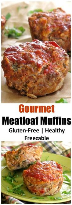 The BEST Meatloaf Recipe - your family will beg you to make it again and again. Made with oatmeal so it's gluten-free with tips to make it healthy. Make a loaf or in muffin tins and freeze it too!