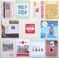 Project Life spread by Jennifer Chapin using the Elle's Studio 2014 exclusive July kit