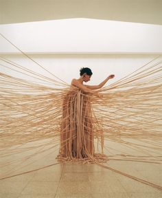 Nelly Agassi - performance & installation Wall Dress - from Pallace of Tears, 2OO2, Museum of Art, Ein Harod