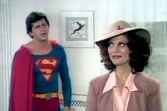 """1975 TV musical based on 1966 Broadway Musical """"It's a Bird.It's a Plane.It's Superman starring David Wilson as Superman and Leslie Ann Warren as Lois Lane Superman Movies, Superman 1, Superman Family, Superman And Lois Lane, Adventures Of Superman, Richard Donner, Physical Comedy, Wonder Twins"""