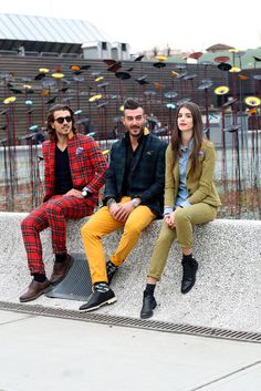 Plaid suits, too cool.  Street Style Photos at Pitti Uomo in Florence, Italy - NYTimes.com