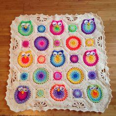 #blanket 1 is finished :) onto blanket number 2.... #crochet #crocheting #babyblanket #owlblanket #orderstaken #handmade