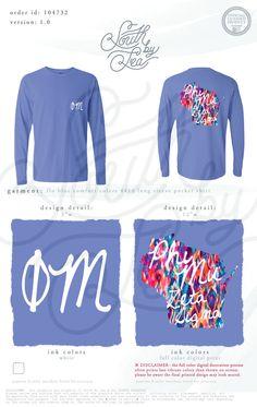 Phi Mu | Zeta Sigma | State T-Shirt Design | South by Sea | Greek Tee Shirts | Greek Tank Tops | Custom Apparel Design | Custom Greek Apparel | Sorority Tee Shirts | Sorority Tanks | Sorority Shirt Designs