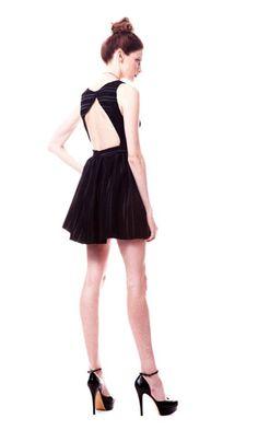 angelica dress in black - paper crown