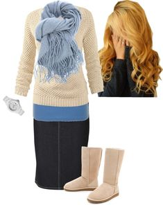 great casual outfit, top would look good with some jeans too! Modest Outfits, Skirt Outfits, Modest Fashion, Casual Outfits, Cute Outfits, Modest Clothing, Clothing Ideas, Look Fashion, Winter Fashion