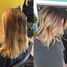 Today I did my most favorite cut and color I have done thus far in my career…