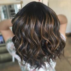 Chocolate balayage. Color by @monicagblush #hair #hairenvy #hairstyles…