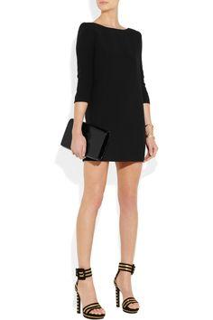 Saint Laurent|Stretch-cady dress|NET-A-PORTER.COM