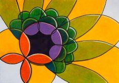 """Pintura sobre papel """"Repouso"""" obra do artista plástico brasileiro Quim Alcantara - http://quim.com.br/repouso/"""