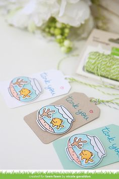 Quick and easy Fintastic Friends tags by Nicole on the blog today: http://lawnfawn.blogspot.com/2015/07/lawn-fawn-video-73015-fintastic-friends.html…