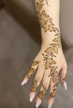 Hand Henna, Hand Tattoos, Nails, Finger Nails, Ongles, Nail, Nail Manicure