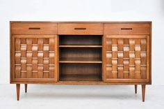 Dunbar Woven-Front Credenza by Edward Wormley.