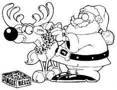 Santa Claus Coloring Pages for Kids - Enjoy Coloring
