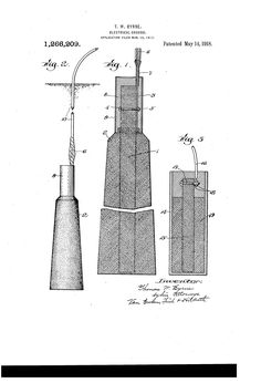 Patent US1266209 - Electrical ground. - May 14, 1918