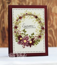 Crafting with Betty: Muse: Christmas Visions Challenge MCV20! PTI Twig Wreath stamp set