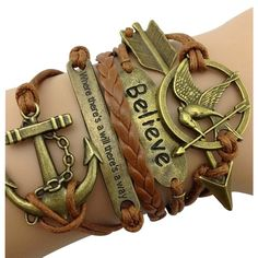 Brown Hunger Games and Anchor Arm Party Bracelet