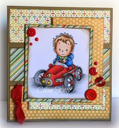 Colour Kitty: Leon, Whimsy Stamps