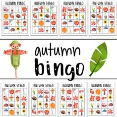 First Day of Fall Bingo Game by The Kinder Kids | TpT