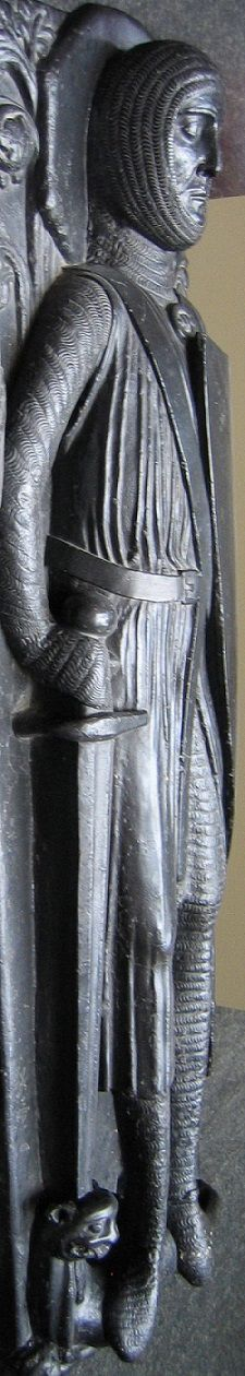 "The man who has been called ""The Greatest Knight"" - This is a casting of Knight Templar Sir William Marshal's effigy from his tomb at Temple Church, London. It was taken by the Victoria & Albert Museum before damage was done to the original during WWII bombing.  His is one of the 5 attributed of the 9 effigies at Temple Church. My 23rd, (x2) 24th (x2) & 26th, GGF."