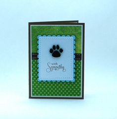 Loss of Pet Card, Dog Sympathy Card, Dog Paw Print. $2.95, via Etsy.