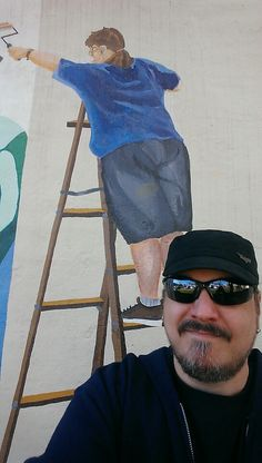 A visit back to the mural I painted ago in my home town Yuba City, House, Painting, Fashion, Moda, Home, La Mode, Painting Art, Haus