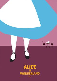 Alice in Wonderland   28 Minimalist Posters For Your Disney-Themed Nursery