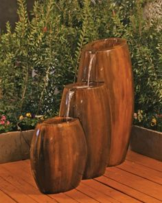 Free Shipping and No Sales Tax on the Hybrid 3-Part Garden Water Fountain on Outdoor Fountain Pros.