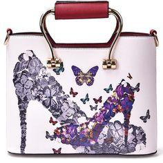 Personality Graffiti Print Women Handbag (42 AUD) ❤ liked on Polyvore featuring bags, handbags, pink handbags, polyurethane bags, man bag, pink bag and hand bags