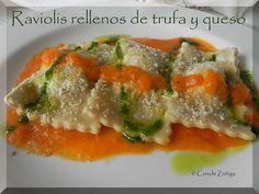 CocinandoSetas: Raviolis rellenos de trufa y queso