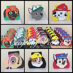 Paw Patrol craft foam goodie bags. % handmade out of craft foam. Contact me text 619-273-2845 ||diannacraftingparties(at)yahoo.com || IG @craftingparties || www.facebook.com/craftingpartiesbydianna || Remember to place your order at least 1 month in advance