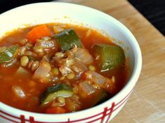 A hearty soup that makes a great vegetarian main course.