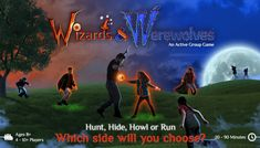 The moon is out, now let the games begin! Introducing Wizards and Werewolves by Starlux Games, an epic team-based glow in the dark game that pits two mystical forces against one another in an exciting backyard battle of speed, skill and wits. Group Games, Fun Games, Outdoor Games To Play, Werewolf Games, Alpha Werewolf, Road Trip Map, Capture The Flag, Cool Gifts For Kids, Green Gifts