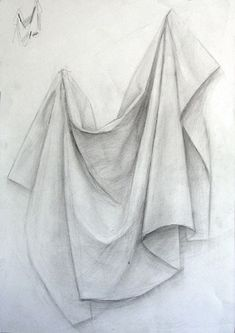 Drapery Drawing, Fabric Drawing, Painting & Drawing, Still Life Pencil Shading, Still Life Drawing, Pencil Art Drawings, Art Drawings Sketches, Pictures To Draw, Art Pictures
