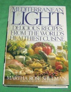 Mediterranean Light Cookbook / Martha Rose Shulman, best hummus, baba ganoush, etc.! lighter, but not lacking flavor